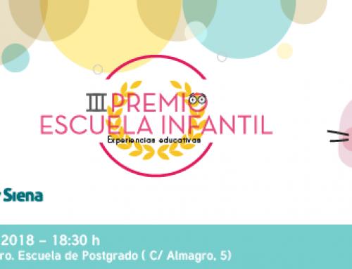 15 de marzo III edición de los Premios Escuela Infantil.