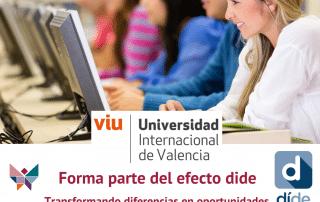 Universidad Internacional de Valencia,VIU, y DIDE firman acuerdo de colaboración