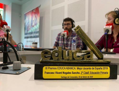 Francesc Nogales Sancho, 2º mejor profesor de España: plena educación en valores
