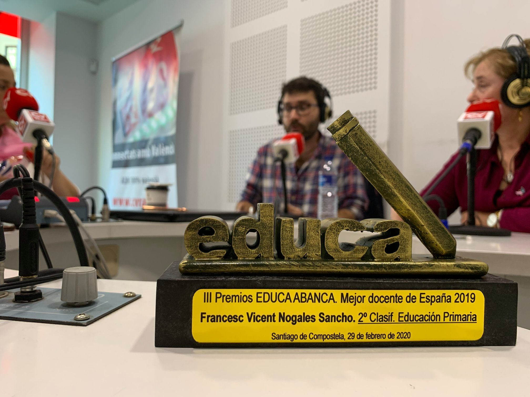 Francesc Nogales Sancho, mejor profesor España