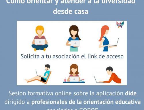 Sesión de formación online sobre la herramienta díde para los asociados a COPOE