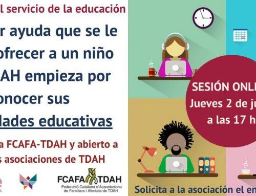 Sesión online informativa sobre díde y su uso en asociaciones de TDAH
